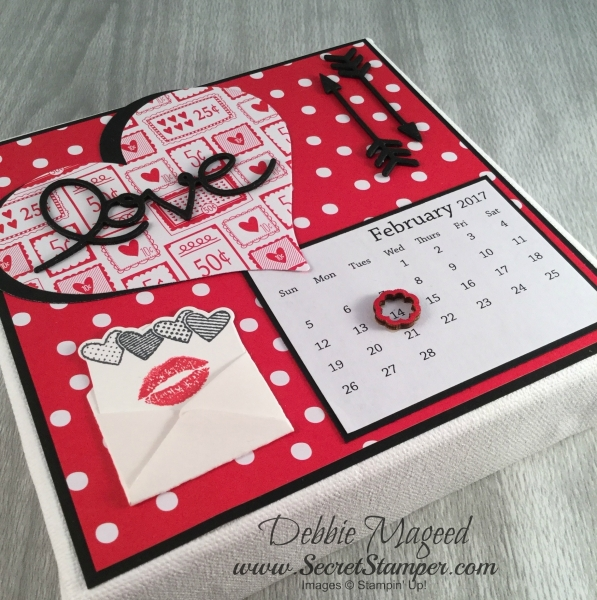 By Debbie Mageed, Sealed with Love, Love Notes, Valentines, Calendar, Stampin Up