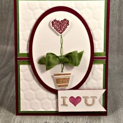 By Debbie Mageed, Vertical Greetings, Friendly Wishes, Pictogram Punches, Valentines, Stampin Up
