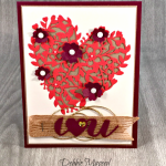 Stampin' Up! Bloomin' Heart Thinlits Are Perfect for Valentines Day