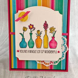 By Debbie Mageed, Vivid Vases, Festive Birthday, Stampin Up