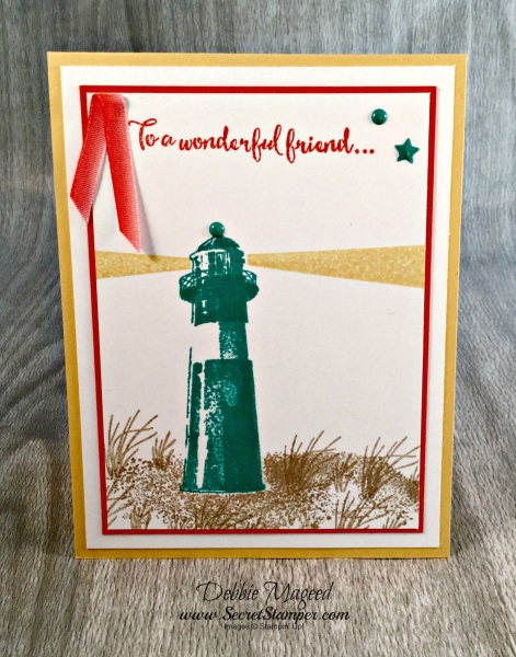 By Debbie Mageed, High Tide, Dragonfly Dreams, Birthday Blast, Stampin Up
