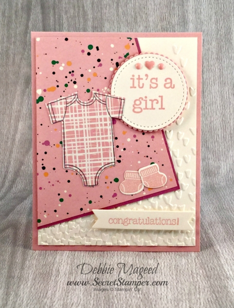 By Debbie Mageed, Made with Love, Something for Baby, Baby Prints, Baby Cards, Stampin Up