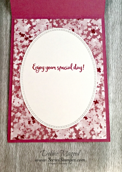 By Debbie Mageed, Avant Garden, Dragonfly Dreams, Blooms & Bliss, Layering Ovals Framelits, Vellum, Birthday, Stampin Up