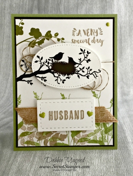 By Debbie Mageed, Guy Greetings, Pop of Paradise, World of Dreams, Masculine, Fathers Day, Stampin Up