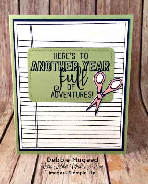 By Debbie Mageed, Apple of My Eye, Balloon Adventures (inside), Coffee Café, Crafting Forever, Writing Notes, Back to School, Stampin Up