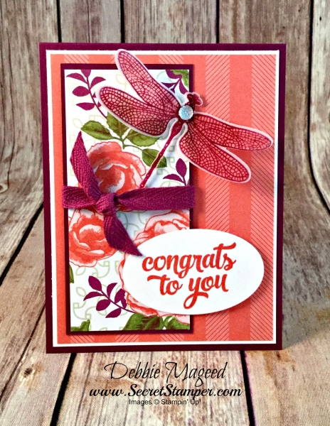 By Debbie Mageed, Dragonfly Dreams, tin of Cards, You've Got This, Congratulations, Stampin Up