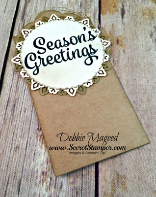 By Debbie Mageed, Carols of Christmas, Post Script, Holiday, Christmas, Fun Fold, Stampin Up