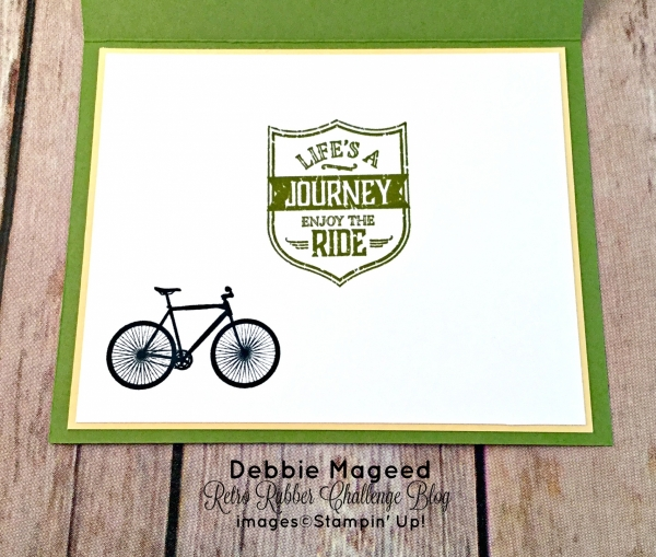 By Debbie Mageed, One Wild Ride, Pedal Pusher, Travel, Bicycle, Stampin Up