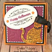 By Debbie Mageed, Spooky Cat, Halloween, Pizza Box, Stampin Up