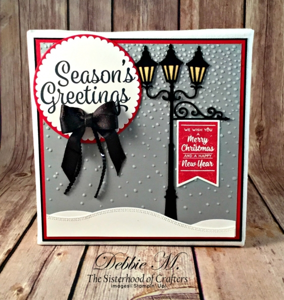 By Debbie Mageed, Snowflake Sentiments, Brightly Lit Christmas, Holiday, Canvas, Winter, Stampin Up