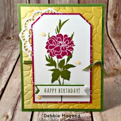 By Debbie Mageed, Fabulous Florets, Five for All, Birthday, Stampin Up