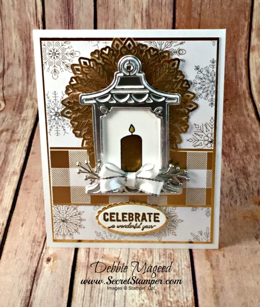 By Debbie Mageed, Labels to Love, Seasonal Lanterns, Christmas Pines, Lantern Builder Thinlits, Holiday, Christmas, Thanksgiving, Hanukkah, Stampin Up