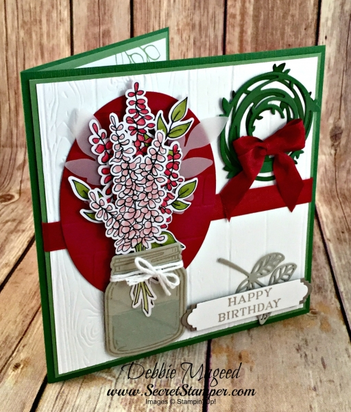 By Debbie Mageed, Jar of Love, Rose Wonder, Lots of Happy Card Kit, Perennial Birthday, Stampin Up