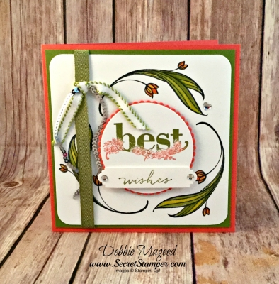 By Debbie Mageed, Lovely Wishes, Happy Wishes, Birthday, Saleabration, Blendies, Stampin Up