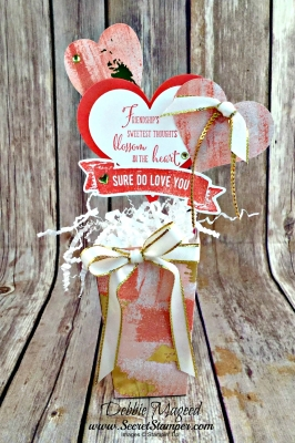 By Debbie Mageed, Friendship Sweetest Thoughts, Sure Do Love You, Popcorn Box Thinlit, Valentines Day, Sweet Soiree Ready Shreddie, Stampin Up
