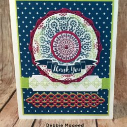 By Debbie Mageed, Moroccan Nights, Pop of Paradise, Eastern Palace, Eastern Medallions, Petals & More Thinlits, Stampin Up