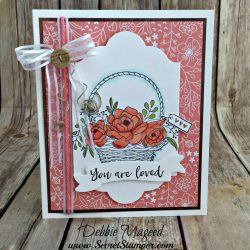 Pretty Spring Basket Card Featuring #BlossomingBasket, #SoManyShells, #AllOccasion, #SecretsToStamping, #StampinUp