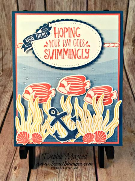 Fun Birthday Card featuring #SeasideShore, #WindowShopping, #Nautical, #Birthday, #SecretStamper, #StampinUp