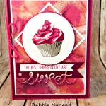 Birthday Wishes with a Sweet Cupcake Card for Retro Rubber