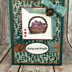 Pretty All Occasion Card featuring #ShareWhatYouLove, #BasketOfWishes, #JarOfLove, #SecretsToStamping, #StampinUp