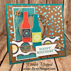 Masculine Birthday Card Featuring #GuyGreetings, #ColorfulSeasons, #Fizz&Bubbles, #FoilFrenzy, #SecretsToStamping, #StampinUp
