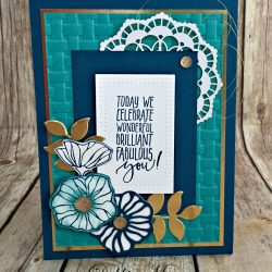 Elegant Birthday Card Featuring #OhSoEclectic #PicturePerfectBirthday,, #SecretsToStamping, #StampinUp