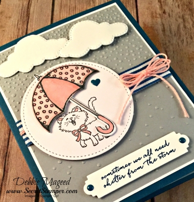 Sweet Friendship Card Featuring #PrettyKitty, #WeatherTogether, #LovelyInside&Out, #SecretsToStamping, #StampinUp