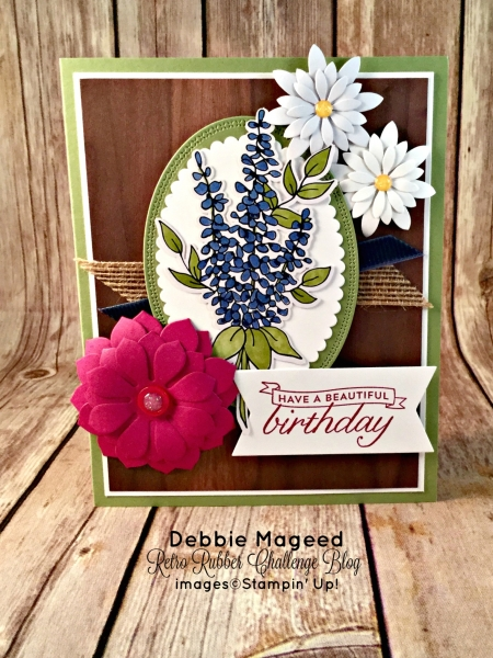 Pretty Floral Card Featuring #BirthdayBlossoms, #SecretsToStamping, #StampinUp