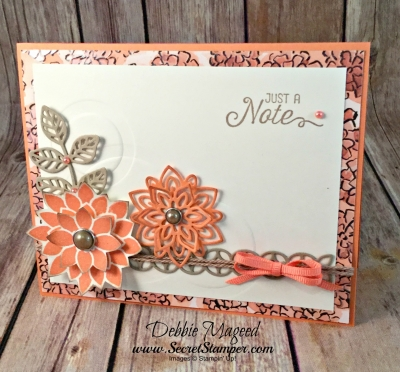 Pretty Floral Card Featuring #FlourishingPhrases, #FlourishThinlits, #ShareWhatYouLove, #AllOccasion, #SecretsToStamping, #StampinUp