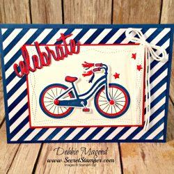 Fun Patriotic Card Featuring #BikeRide, #Birthday, #Kids, #SecretsToStamping, #StampinUp