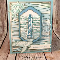 Fun Nautical Card Featuring #HighTide, #FromLandtoSea, #TeenyTinyWishes, #MasculineCards, #FathersDay, #SecretsToStamping, #StampinUp