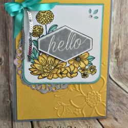 Lovely Floral Card Featuring #AccentedBlooms, #HealingHugs, #GetWell, #AllOccasion, #SecretsToStamping, #StampinUp!