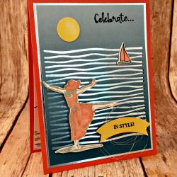 Relaxing Vacation Card Featuring #BeautifulYou, #LilyPadLake, #HighTide, #Birthday, #Summer, #LakesideFramelits, #SecretsToStamping, #StampinUp