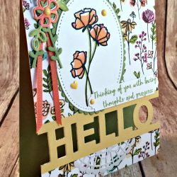 Beautiful Floral Card Featuring #LoveWhatYouDo, #LilypadLake, #LoveWhatYouDo, #AllOccasion, #SecretsToStamping, #StampinUp
