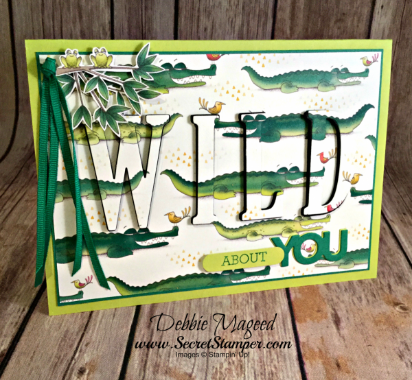 Fun Card Featuring #AnimalExpedition, #CrazyAboutYou, #LargeLettersFramelits, #EclipseCard, #AllOccasion, #SecretsToStamping, #StampinUp