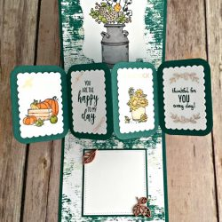 Twist Pop-Up Card Featuring #DandelionWishes, #CountryHome, #ManyBlessings, #Autumn, #HolidayCatalog, #SecretsToStamping, #StampinUp