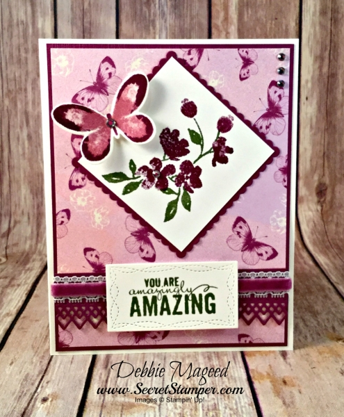 Sweet Floral Card Featuring #PaintedPetals, #WatercolorWings, #Friendship, #AllOccasion, #SecretsToStamping, #StampinUp