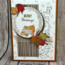 Autumn Card Featuring #BlendedSeasons, #ManyBlessings, #Autumn, #Thanksgiving, #Fall, SecretsToStamping, #stampinup