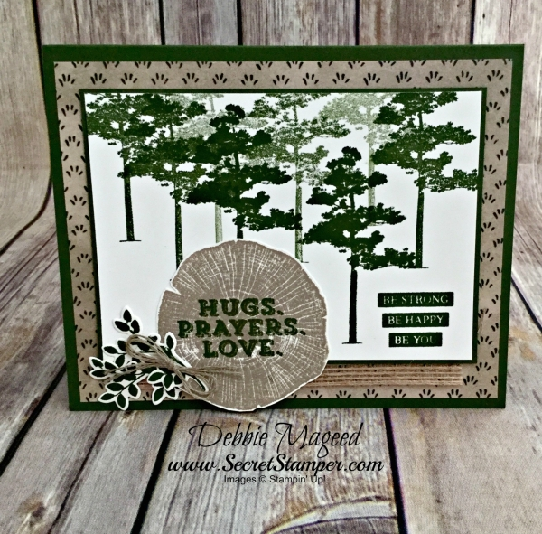 Great Autumn Card Featuring #RootedinNature, #SendingThoughts, #AllOccasion, #SecretstoStamping, #StampinUp