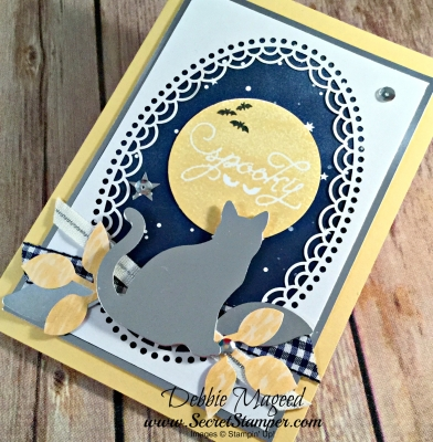 Halloween Card Featuring #AmongtheBranches, #HolidayHome, #SpookyCat, #Halloween, #SecretsToStamping, #StampinUp