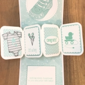 Fun Fold Baby Card Featuring Moon Baby Stamp Set by Stampin