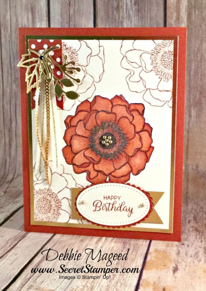 Autumn Floral Card Featuring #Blended Blooms, #BeautifulBouquet, #Birthday, #SecretsToStamping, #StampinUp