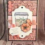 Warm Beverage Card Featuring #BeautifulBlizzard, #GraciellieDesigns, #ShareWhatYouLove, #AllOccasion, #Autumn, #SecretsToStamping, #StampinUp