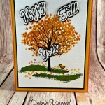 Autumn Arrives with a Sheltering Tree for Hand Stamped Sentiments