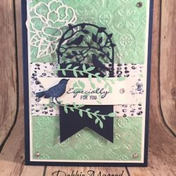 Delicate Friendship Card Featuring #BotanicalBliss, #BotanicalTags, #TinTile, #AllOccasion, #JustBecause, #SecretsToStamping, #StampinUp