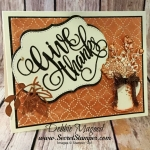 Country Home Thanksgiving Card for the Sisterhood of Crafters