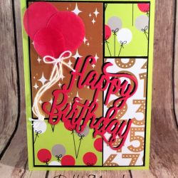 Stack & Cut Cards Featuring #StitchedAllAround, #HappyBirthdayThinlit, #BroadwayBound, #Quilt, #StackAndCut, #SecretsToStamping, #StampinUp