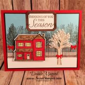 Holiday Card Featuring #FarmhouseChristmas, #WinterWoods, #Christmas, #Holiday, #SecretsToStamping, #StampinUp