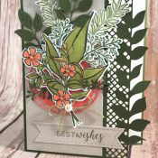 Wonderful Romance Birthday Card Featuring #WonderfulRomance, #StitchedAllAround, #VeryVintage, #Birthday, #OccasionsCatalog, #SecretsToStamping, #StampinUp