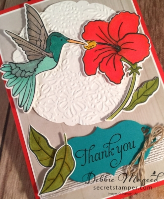 Pretty Thank You Card Featuring: Humming Along Stamp Set by Stampin' Up!